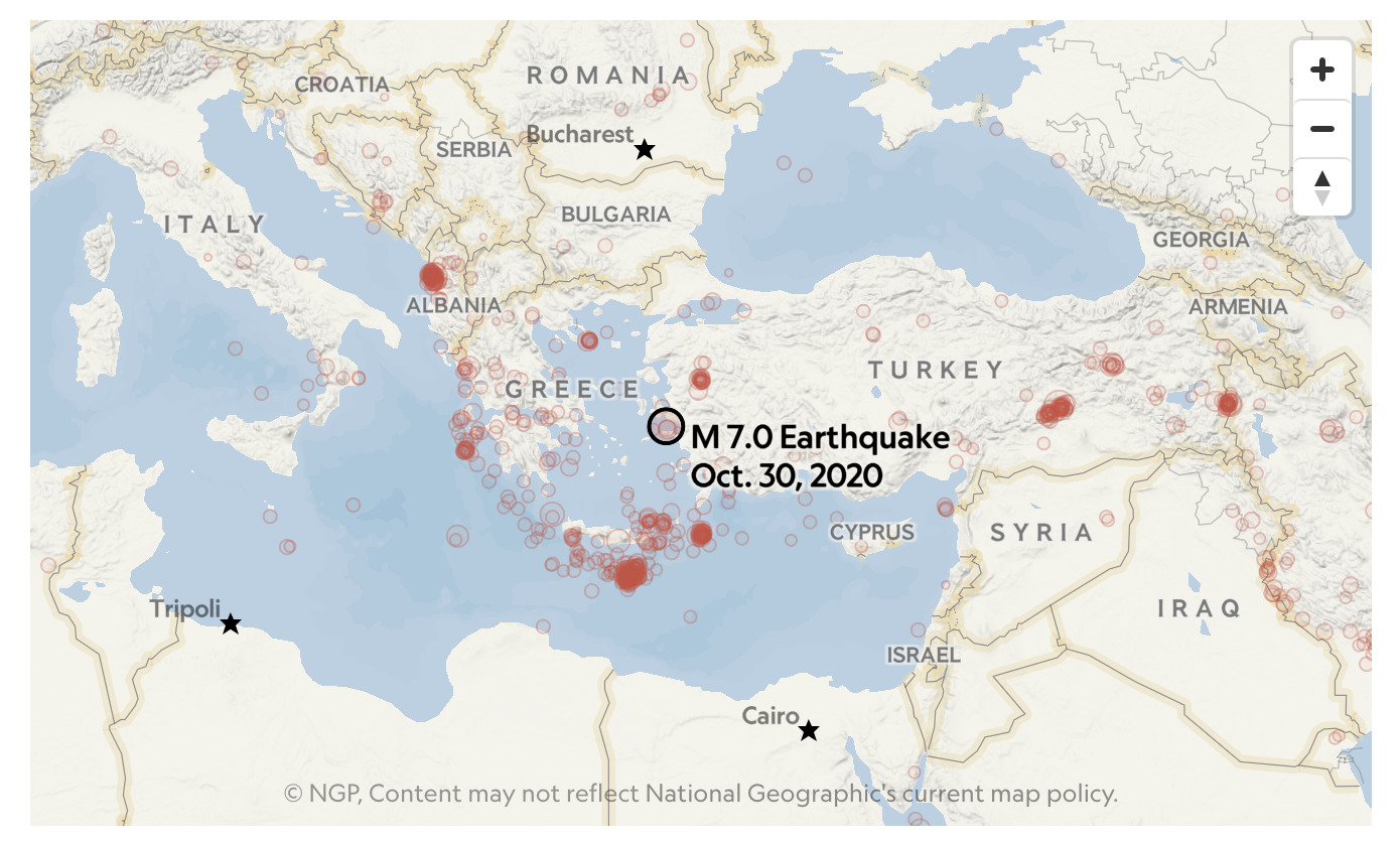 2020 - 7.0 M Earthquake in Izmir, Turkey & Greece
