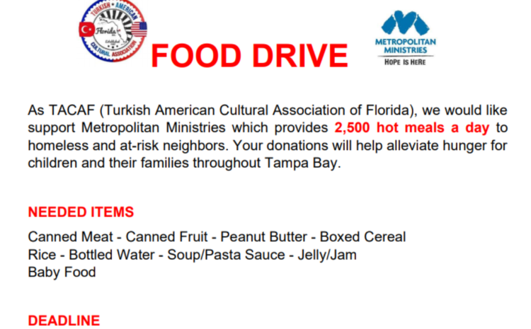 Food Drive Campaign with Metropolitan Ministries